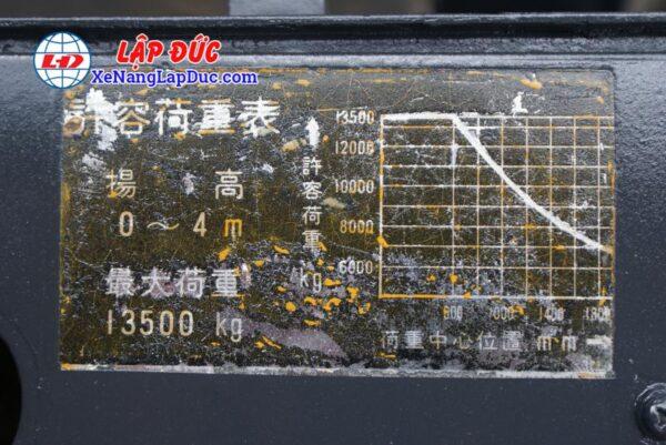 Xe Nâng Dầu 13.5 tấn KOMATSU FD135-4 # 01691 12