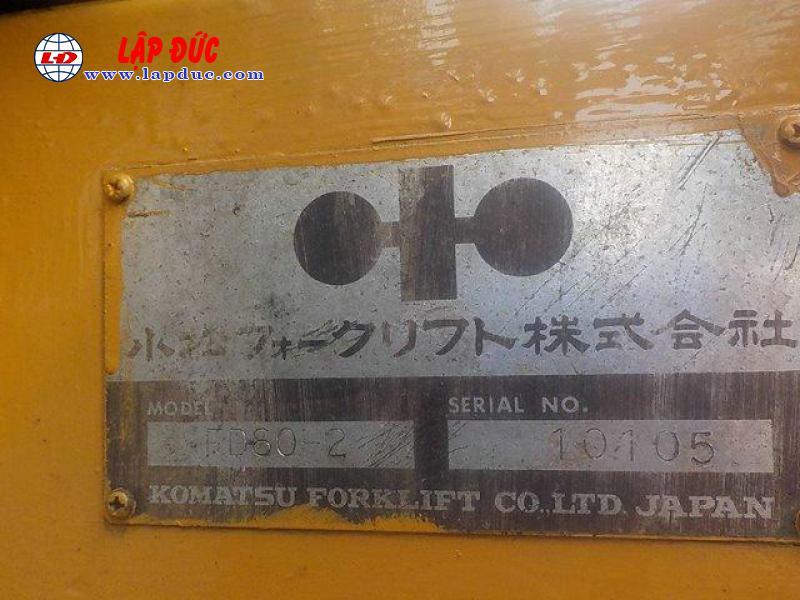 Xe nâng 06 tấn máy dầu KOMATSU FD60-2 # 10105 giá rẻ