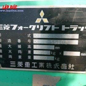 Xe nâng MITSUBISHI máy dầu 2.5 tấn FKD25 # 738556 giá rẻ
