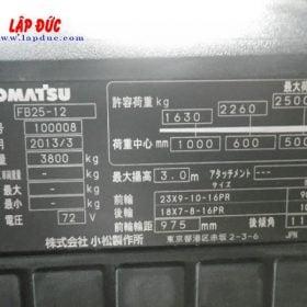 Xe nâng điện ngồi lái cũ 2.5 tấn KOMATSU FB25-12 # 100008
