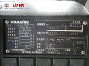 Xe nâng điện ngồi lái KOMATSU 2.5 tấn FB25-12