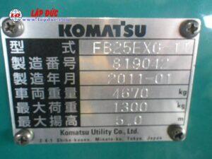 Xe nâng điện KOMATSU 2.5 tấn ngồi lái FB25EXG-11 # 819042