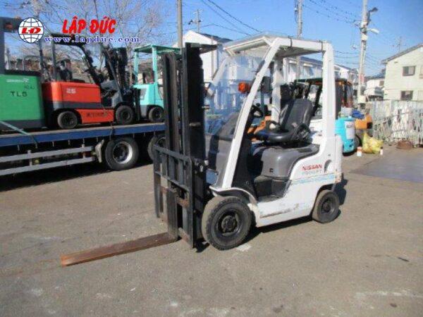 Xe nâng xăng cũ 1 tấn NISSAN EBT-NP1F1 # 740879 giá rẻ