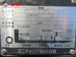 Xe nâng NISSAN máy xăng 1 tấn EBT-NP1F1 # 740879 giá rẻ