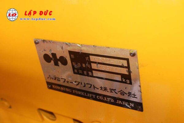 Xe nâng KOMATSU 2 tấn dầu FD20-10 # 233741 giá rẻ