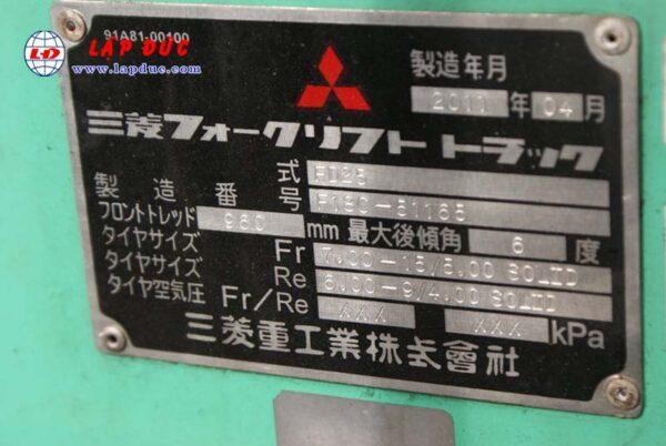 Xe nâng động cơ dầu 2.5 tấn MITSUBISHI FD25 # 51165 giá rẻ