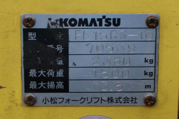 Xe nâng điện đứng lái KOMATSU 1.5 tấn FB15RS-10 giá rẻ