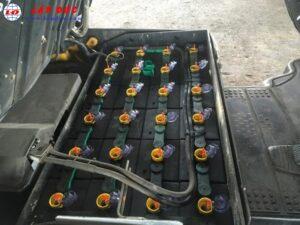 Xe nâng điện ngồi lái cũ KOMATSU 1 tấn FB10-12