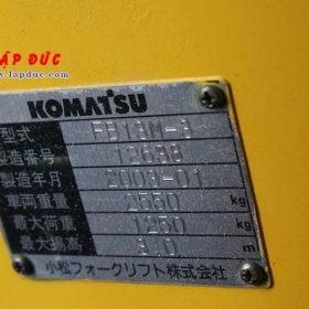 Xe nâng điện KOMATSU 1.3 tấn ngồi lái FB13M-3 giá rẻ
