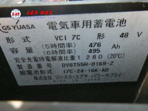 Xe nâng điện cũ KOMATSU ngồi lái 1.5 tấn FB15-12 giá rẻ