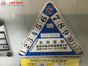 Xe nâng điện KOMATSU ngồi lái 2 tấn FB20EX-5