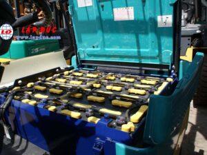 Xe nâng điện ngồi lái cũ KOMATSU 2.5 tấn FB25EX-10 giá rẻ