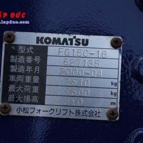 Xe nâng 1.5 tấn xăng KOMATSU FG15C-16 # 627135 giá rẻ