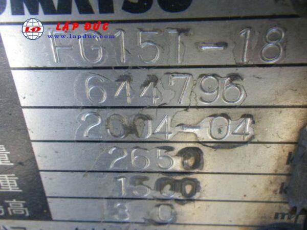 Xe nâng KOMATSU máy xăng 1.5 tấn FG15T-18 # 644796 giá rẻ