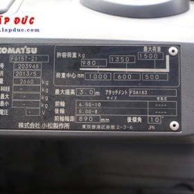 Xe nâng động cơ xăng KOMATSU FG15T-21 # 203948 giá rẻ