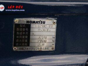 Xe nâng KOMATSU máy xăng 2 tấn FG20C-11 # 453615 giá rẻ