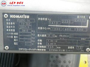 Xe nâng động cơ xăng KOMATSU FG25C-16 # 731383 giá rẻ