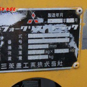 Xe nâng động cơ xăng MITSUBISHI FG15 # 54137 giá rẻ