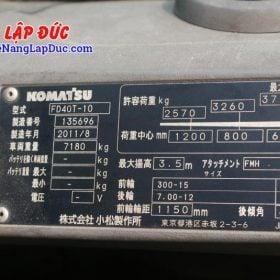 Xe nâng 4 tấn dầu KOMATSU FD40T-10 -135696 giá rẻ
