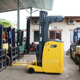 Xe nâng điện đứng lái cũ KOMATSU 0.9 tấn FB09RS-14
