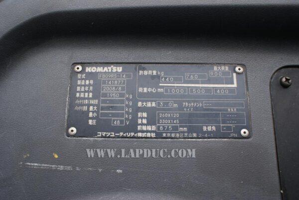 Xe nâng điện KOMATSU 0.9 tấn đứng lái FB09RS-14
