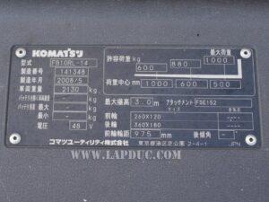 Xe nâng điện đứng lái 1 tấn KOMATSU FB10RL-14