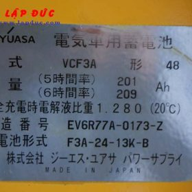 Xe nâng điện đứng lái cũ 1 tấn KOMATSU FB10RL-12 giá rẻ