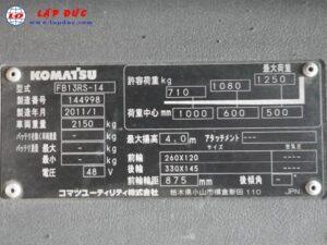 Xe nâng điện đứng lái cũ 1.3 tấn KOMATSU FB13RS-14