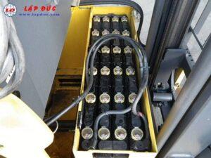 Xe nâng điện đứng lái cũ 1.3 tấn KOMATSU FB13RW-14