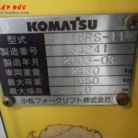 Xe nâng điện KOMATSU 1.8 tấn đứng lái FB18RS-11