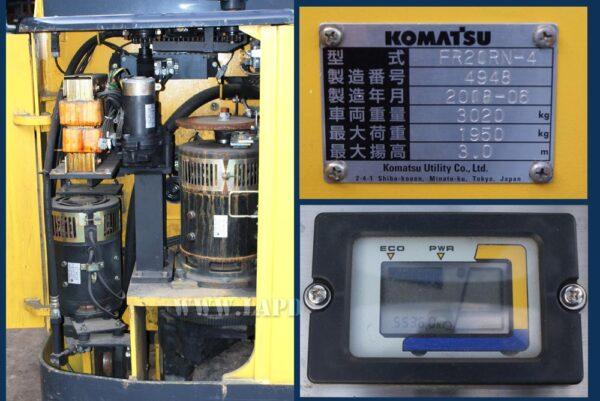 Xe nâng điện đứng lái 2 tấn KOMATSU FR20RN-4