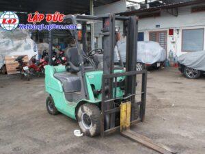Xe nâng cũ động cơ dầu MITSUBISHI 1.5 tấn FD15D # 51325 giá rẻ