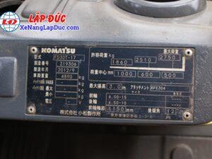 XE NÂNG DẦU 3 TẤN KOMATSU FD30T-17