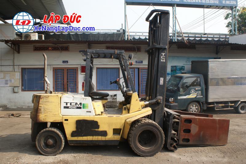 Xe nâng máy dầu cũ TCM 4 tấn FD40Z6 # 59606364 giá rẻ