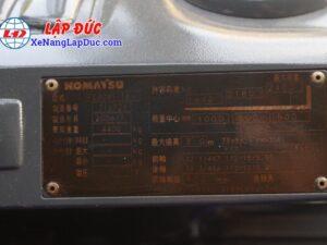 Xe nâng cũ KOMATSU 3 tấn máy dầu KOMATSU FD30NT-16 giá rẻ
