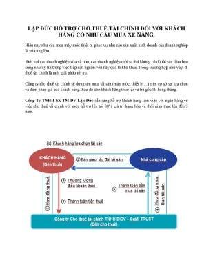 Hỗ trợ vay tài chính cho khách hàng mua xe nâng 12