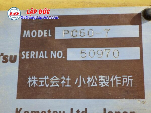 Xe cuốc KOMATSU PC60-7 # 50970