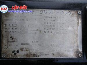 Xe Nâng Dầu TOYOTA 2.5 tấn 7FD25 # 16189 18