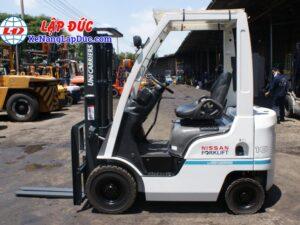Xe nâng xăng cũ 1 tấn NISSAN NP1F1 # 400155 giá rẻ