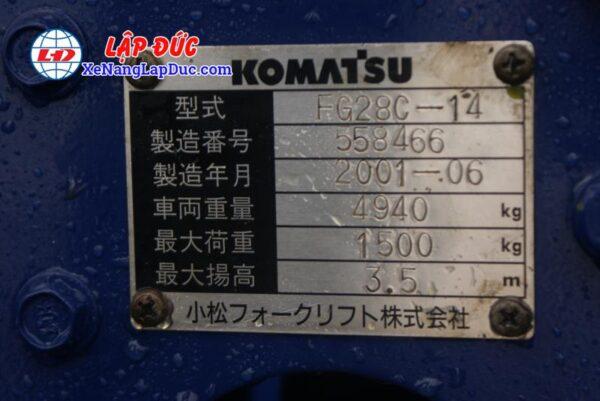 Xe Nâng Xăng 2.8 tấn KOMATSU FG28C-14 # 558466 10
