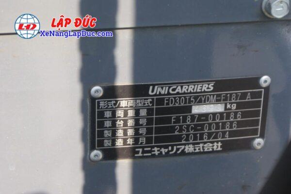 Xe Nâng Dầu 3 tấn UNICARRIERS FD30T5 # 00186 8