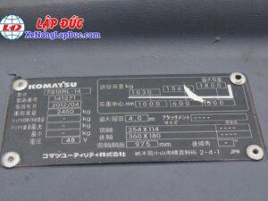 Xe Nâng Điện Đứng KOMATSU FB18RL-14 # 141271 19