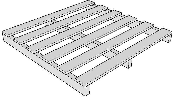 Pallet gỗ, Pallet nhựa, Pallet sắt, Pallet giấy. Các loại pallet phổ biến trong kho hàng 1