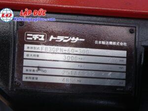 Xe nâng điện ngồi lái 3 tấn NICHIYU FB30PN-60-300 23