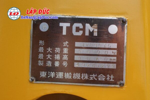 Xe Nâng Dầu TCM FD35Z5 # 43201273 11