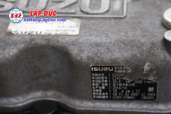 Xe Nâng Dầu UNI CARRIER FD30C3Z # 2U831871 gắn bộ gầu xúc gật gù 15