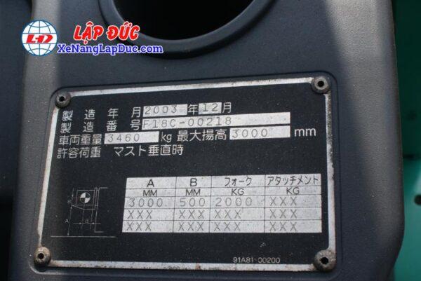 Xe Nâng Dầu 2 Tấn MITSUBISHI FD20D 6