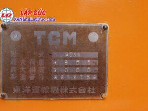 Xe Nâng Dầu 3500kg TCM FD35 18