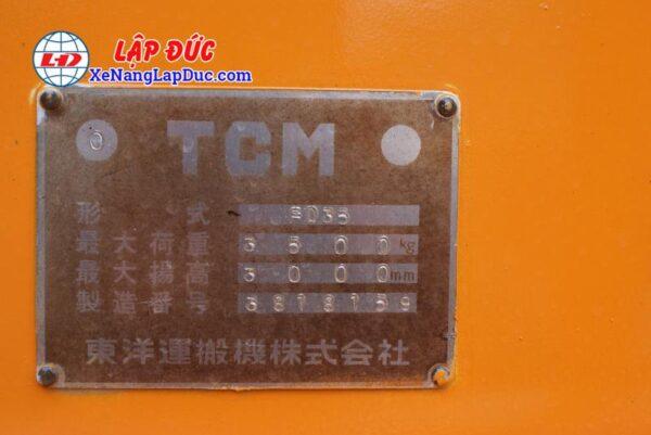 Xe Nâng Dầu 3500kg TCM FD35 7