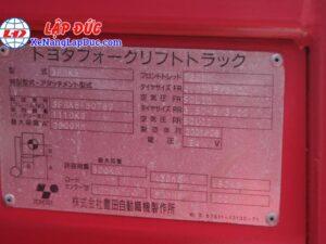 Xe Nâng Điện 500kg TOYOTA 3FBK5 11